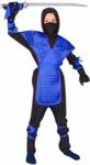 Child's Blue Ninja Dragon Costume