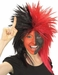 Sports Fan Black and Red Wig