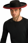 Black & Red Sombrero