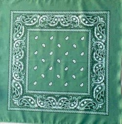 Straw Green Paisley Bandanas Wholesale