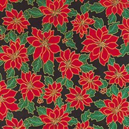 Green Poinsettia Christmas Bandanas