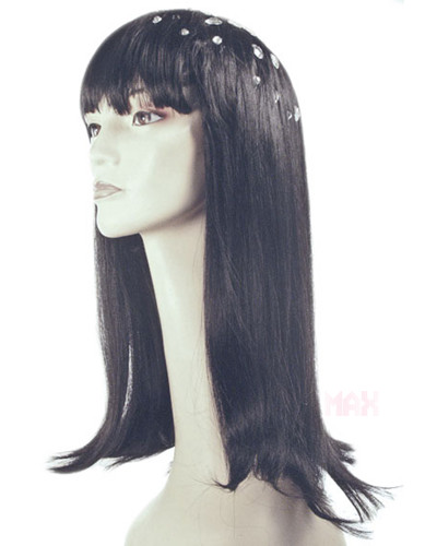 Adult Glittery Black Costume Wig