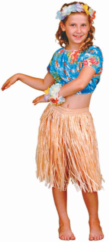 Child's Hawaiian Hula Dancer Girl Costume