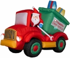 Animated Airblown Dump Truck with Presents