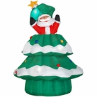 Christmas Airblown Animated Santa and Tree