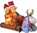 Inflatable Pooh, Tigger, and Eeyore in Sleigh