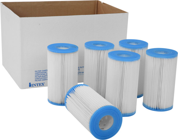 6 Pack Case of Intex A Filters