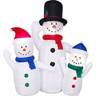 Christmas Inflatable Snowman Family