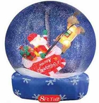 Airblown Inflatable 8 FT Snow Globe With Santa and Sleigh