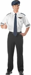 Adult Airline Pilot Shirt And Hat Costume