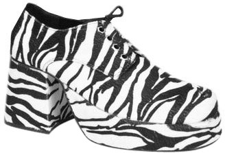Men's Zebra Platform Shoes