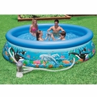 "Intex 10' x 30"" Ocean Reef Pool w/ Filter Pump"
