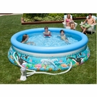 "Intex 12' x 30"" Ocean Reef Pool w/ Filter Pump"