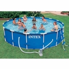 "Intex Round Metal Frame Set 15' x 42"" Complete Pool Set"