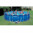 "Intex Round Metal Frame Set 18' x 48"" Salt Water Complete Pool Set"