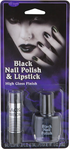 Black Nail Polish & Lipstick Kit