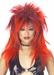 Red & Black Punk Wig
