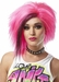 Women's 80s Style Pink Punk Wig