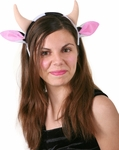 Child's Cow Headband with Horns and Ears