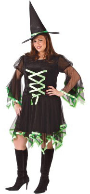Plus Size Sexy Ribbon Witch Costume