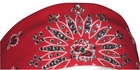 Red Paisley Dust Bandit Crystal Embellished Bandanas