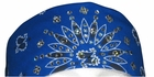 Royal Blue Paisley Dust Bandit Crystal Embellished