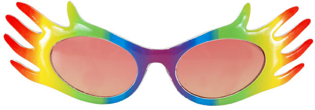 Hands Rainbow Pride Glasses