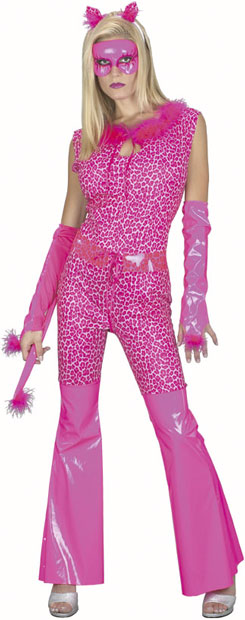 Adult Pink Cat Suit Costume