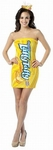 Adult Laffy Taffy Banana Tube Dress