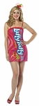 Adult Laffy Taffy Cherry Tube Dress