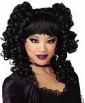 Black Goth Curls Wig
