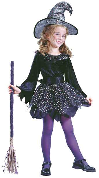 Child's Purple Witch Dress