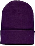 Beanie Ski Cap Hat in Purple