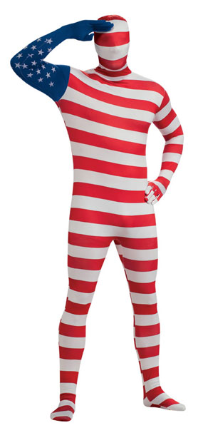 American Flag Morph Suit Costume