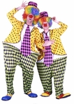 Adult Hooped Colorful Clown Costume