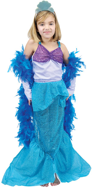Child's Blue Mermaid Princess Costume