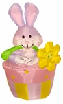 4' Inflatable Easter Rabbit & Flowerpot