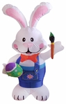 4' Inflatable Easter Rabbit with Brush