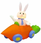 5' Long Inflatable Easter Rabbit w/ Carrot Car