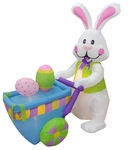 6' Long Inflatable Easter Rabbit Pushing Cart