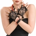Women's Black Lace Fingerless Gloves