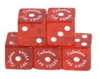 "100 Piece 19 mm Red Dice ""Fabulous Las Vegas"""