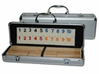 Deluxe Rummy in Aluminum Case with Wooden Racks