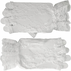 White Fingerless Lace Gloves