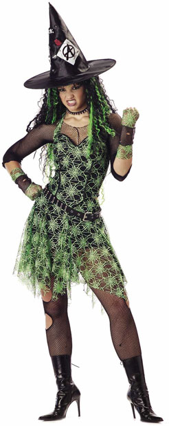 Adult Punk Rocker Witch Costume