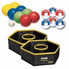 Foldable Bocce and Washer Toss Tailgate Game Set