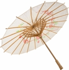 White Chinese Umbrella Costume Prop