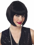 Women's 20's Black Flapper Wig