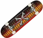 Cross Bones Flame Street Series Skateboard