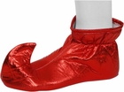 Adult Red Cloth Elf Shoes